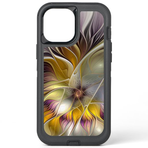 Abstract Colorful Fantasy Flower Modern Fractal OtterBox Defender iPhone 12 Pro Max Case