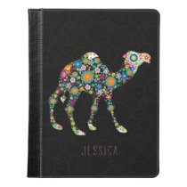 Abstract Colorful Floral Camel Illustration iPad Case