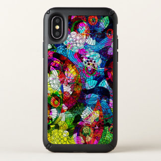 Abstract Colorful Floral Collage Speck iPhone X Case