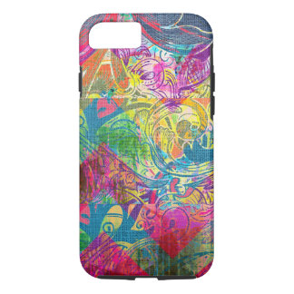 Abstract Colorful Floral Swirls iPhone 7 case