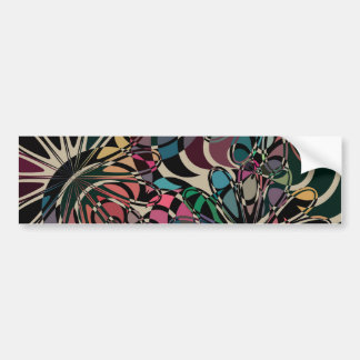 Abstract Colorful Flower Bumper Sticker