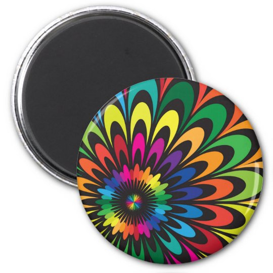 Abstract Colorful Flower. Magnet