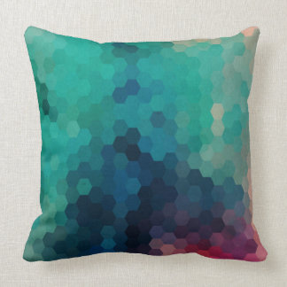Abstract Colorful Geometric Digital Collage 3 Pillow