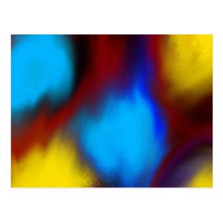Abstract Colorful Geometric Fine Art Postcard