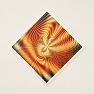 Abstract, colorful glowing lines standard luncheon napkin