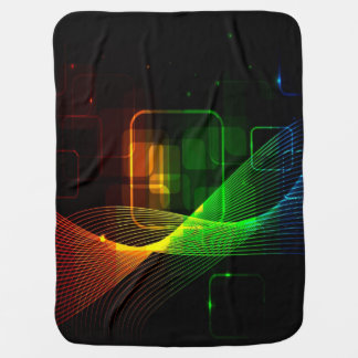 Abstract, colorful glowing lines receiving blanket