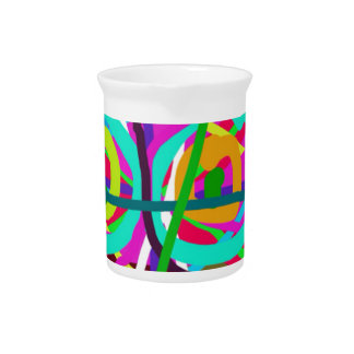 ABSTRACT COLORFUL GRAPHIC ART  GIFTS DRINK PITCHER