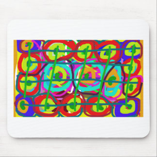 ABSTRACT COLORFUL GRAPHIC ART  GIFTS MOUSE PAD
