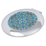 Abstract colorful hand drawn curly pattern design compact mirror