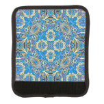 Abstract colorful hand drawn curly pattern design handle wrap