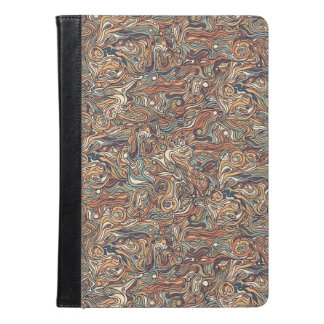 Abstract colorful hand drawn curly pattern design iPad air case