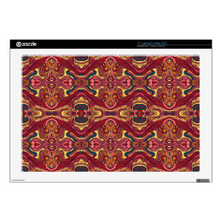 Abstract colorful hand drawn curly pattern design laptop decal