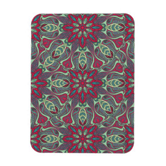 Abstract colorful hand drawn curly pattern design magnet