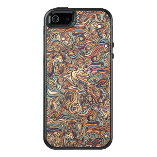 Abstract colorful hand drawn curly pattern design OtterBox iPhone 5/5s/SE case