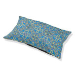 Abstract colorful hand drawn curly pattern design pet bed