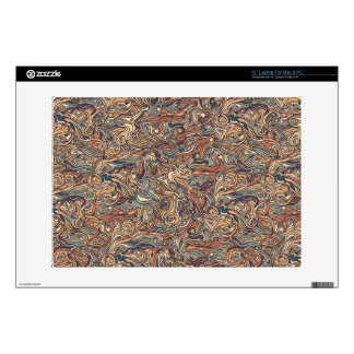 """Abstract colorful hand drawn curly pattern design skins for 13"""" laptops"""