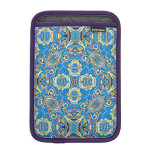 Abstract colorful hand drawn curly pattern design sleeve for iPad mini