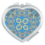 Abstract colorful hand drawn curly pattern design vanity mirror