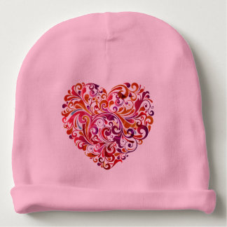Abstract Colorful Heart Baby Beanie