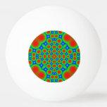 Abstract colorful hearts and circle pattern Ping-Pong ball