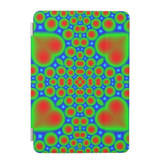 Abstract colorful hearts and circle pattern iPad mini cover