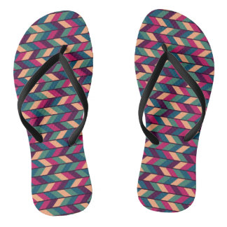 Abstract Colorful Industrial Flip Flops