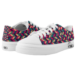 Abstract Colorful Industrial Low-Top Sneakers