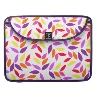 Abstract Colorful Leaves Pattern MacBook Pro Sleeve
