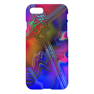 Abstract Colorful line pattern iPhone 7 Case