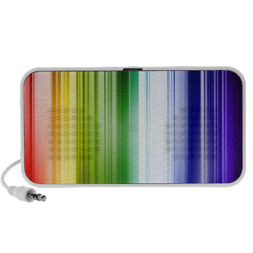 Abstract colorful line travelling speakers