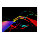 Abstract Colorful Lines and Waves Pattern Cards