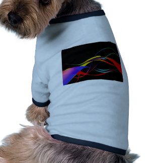 Abstract Colorful Lines and Waves Pattern Pet Clothes