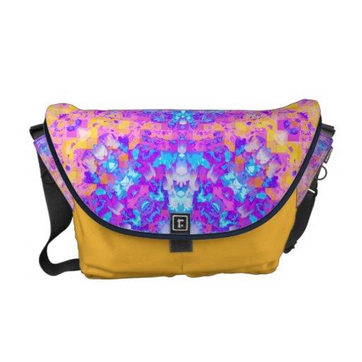 Abstract Colorful Mandala Courier Bag