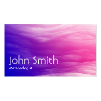 Abstract Colorful Meteorological Business Card