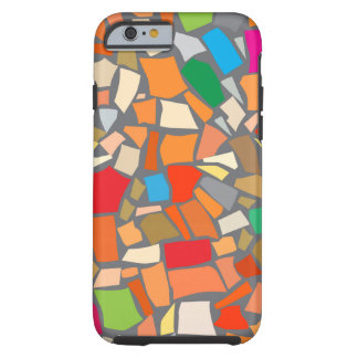 Abstract colorful mosaic tough iPhone 6 case