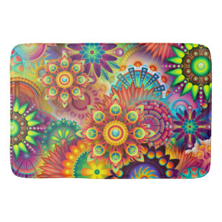 Abstract Colorful Multi Room Home Rug or Mat