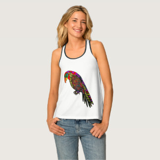 Abstract colorful Parrots in yellow red green blue Tank Top