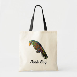 Abstract colorful Parrots in yellow red green blue Tote Bag