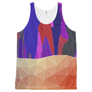 Abstract Colorful Pastel look Design All-Over-Print Tank Top