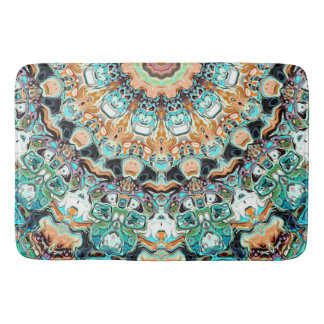 Abstract Colorful Pattern Bathroom Mat