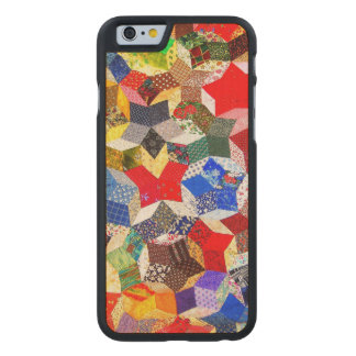 Abstract Colorful Pattern Carved Maple iPhone 6 Slim Case