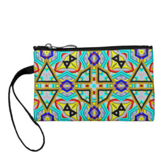 Abstract colorful pattern coin wallet