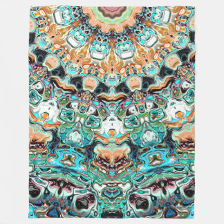 Abstract Colorful Pattern Fleece Blanket