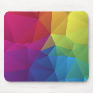 abstract colorful pattern geometric polygon design mousepad