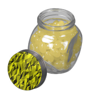 Abstract colorful pattern glass candy jar