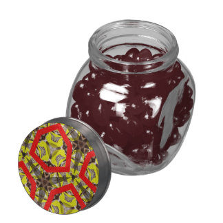 Abstract colorful pattern glass jar