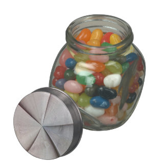 Abstract colorful pattern glass jars