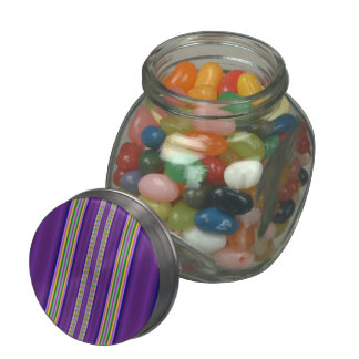 Abstract colorful pattern jelly belly candy jar