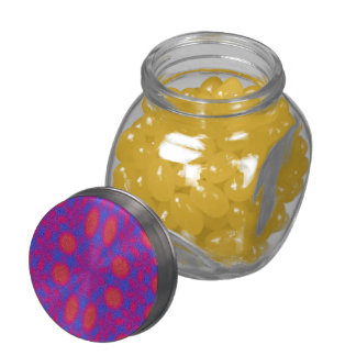 Abstract colorful pattern jelly belly candy jars