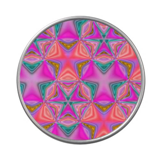 Abstract colorful pattern jelly belly candy tins